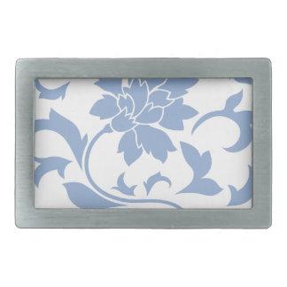 Oriental Flower - Serenity Blue Belt Buckles