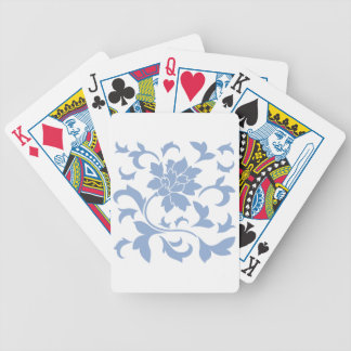 Oriental Flower - Serenity Blue Bicycle Playing Cards