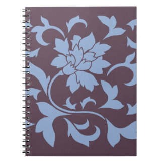 Oriental Flower - Serenity Blue & Cherry Chocolate Notebooks