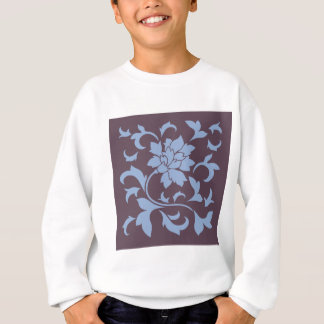 Oriental Flower - Serenity Blue & Cherry Chocolate Sweatshirt