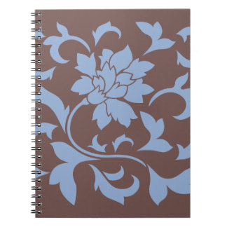 Oriental Flower - Serenity Blue & Chocolate Notebooks