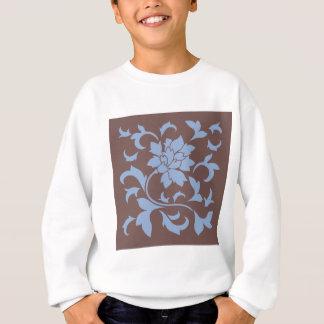 Oriental Flower - Serenity Blue & Chocolate Sweatshirt