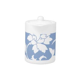 Oriental Flower - Serenity Blue Circular Pattern