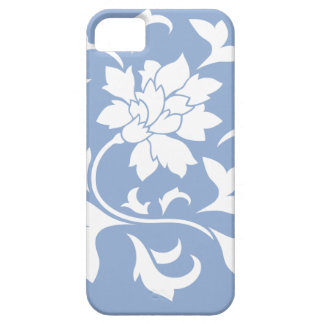 Oriental Flower - Serenity Blue Circular Pattern Case For The iPhone 5