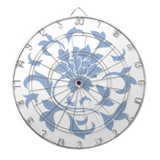 Oriental Flower - Serenity Blue Circular Pattern Dartboard