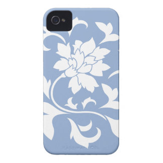 Oriental Flower - Serenity Blue Circular Pattern iPhone 4 Case-Mate Case