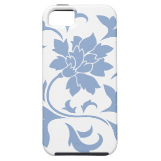 Oriental Flower - Serenity Blue Circular Pattern iPhone 5 Cases