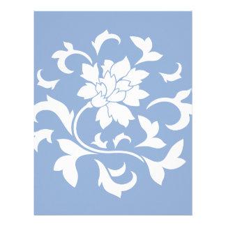 Oriental Flower - Serenity Blue Circular Pattern Letterhead