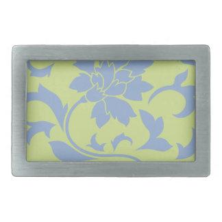 Oriental Flower - Serenity Blue & Daiquiri Green Belt Buckles