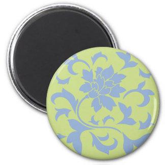 Oriental Flower - Serenity Blue & Daiquiri Green Magnet