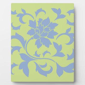 Oriental Flower - Serenity Blue & Daiquiri Green Plaque
