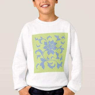Oriental Flower - Serenity Blue & Daiquiri Green Sweatshirt