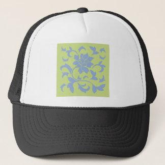 Oriental Flower - Serenity Blue & Daiquiri Green Trucker Hat