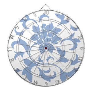 Oriental Flower - Serenity Blue Dartboard