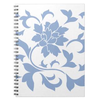 Oriental Flower - Serenity Blue Notebook