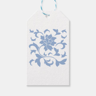 Oriental Flower - Serenity Blue Pack Of Gift Tags