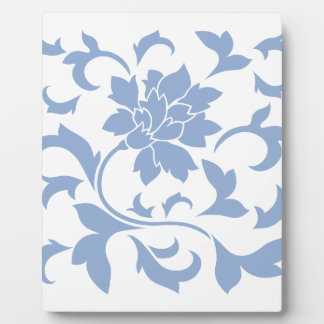 Oriental Flower - Serenity Blue Plaque