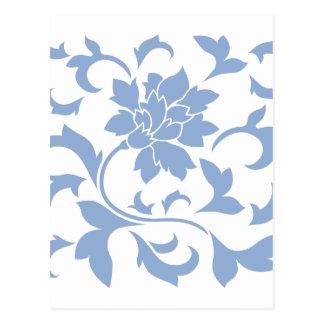 Oriental Flower - Serenity Blue Postcard