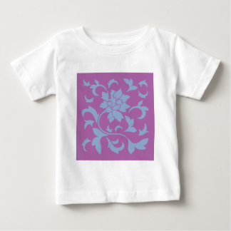 Oriental Flower - Serenity Blue & Radiant Orchid Baby T-Shirt