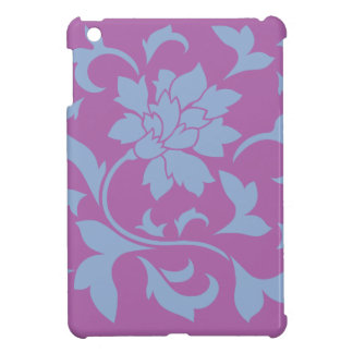 Oriental Flower - Serenity Blue & Radiant Orchid iPad Mini Cases