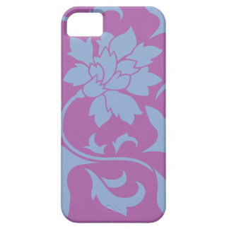Oriental Flower - Serenity Blue & Radiant Orchid iPhone 5 Covers