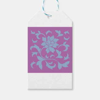 Oriental Flower - Serenity Blue & Radiant Orchid Pack Of Gift Tags