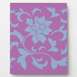 Oriental Flower - Serenity Blue & Radiant Orchid Plaque