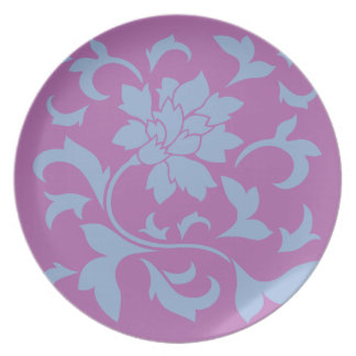 Oriental Flower - Serenity Blue & Radiant Orchid Plate