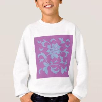 Oriental Flower - Serenity Blue & Radiant Orchid Sweatshirt