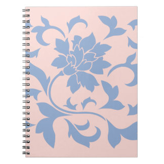 Oriental Flower - Serenity Blue & Rose Quartz Notebook