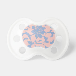 Oriental Flower - Serenity Blue & Rose Quartz Pacifiers