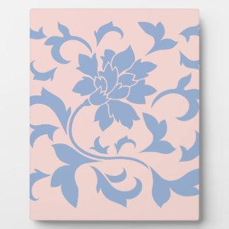 Oriental Flower - Serenity Blue & Rose Quartz Plaque
