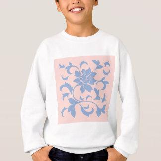 Oriental Flower - Serenity Blue & Rose Quartz Sweatshirt