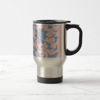 Oriental Flower - Serenity Blue & Rose Quartz Travel Mug