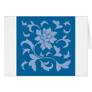 Oriental Flower - Serenity Blue & Snorkel Blue Card