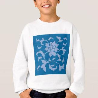 Oriental Flower - Serenity Blue & Snorkel Blue Sweatshirt