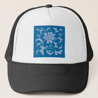 Oriental Flower - Serenity Blue & Snorkel Blue Trucker Hat