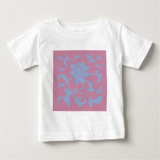 Oriental Flower - Serenity Blue & Strawberry Baby T-Shirt