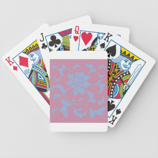 Oriental Flower - Serenity Blue & Strawberry Bicycle Playing Cards