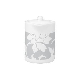 Oriental Flower - Silver Circular Pattern