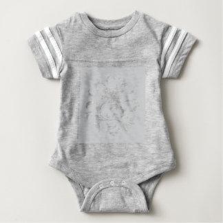 Oriental Flower - Silver Circular Pattern Baby Bodysuit