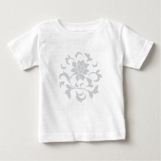 Oriental Flower - Silver Circular Pattern Baby T-Shirt