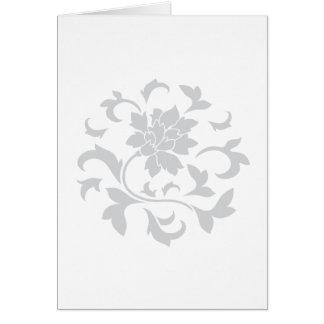 Oriental Flower - Silver Circular Pattern Card