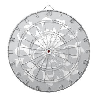 Oriental Flower - Silver Circular Pattern Dartboard