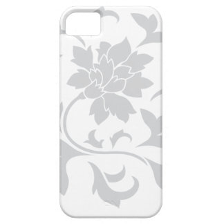 Oriental Flower - Silver Circular Pattern iPhone 5 Cases