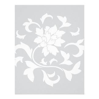 Oriental Flower - Silver Circular Pattern Letterhead