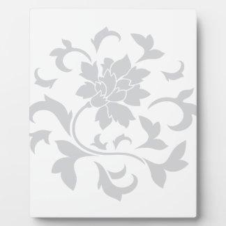 Oriental Flower - Silver Circular Pattern Plaque