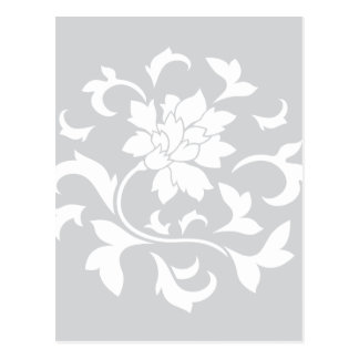 Oriental Flower - Silver Circular Pattern Postcard