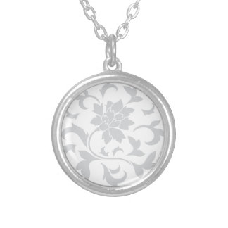 Oriental Flower - Silver Circular Pattern Silver Plated Necklace
