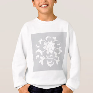 Oriental Flower - Silver Circular Pattern Sweatshirt